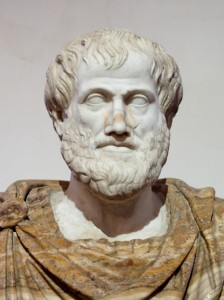 Roman copy in marble of a Greek bronze bust of Aristotle by Lysippus, c. 330 BC.